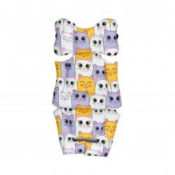 Хлопковый матрасик-вкладыш универсальный Котики (обе стороны) - Milagrosa Basic