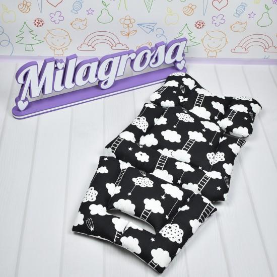 Премиум 3D матрасик-вкладыш универсальный Облака + принт 3D cетка - Milagrosa Premium