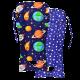 Матрасик-вкладыш хлопковый тонкий Космос/Звезды