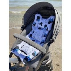 Хлопковый матрасик-вкладыш универсальный Синий Микки Маус (обе стороны) - Milagrosa Basic
