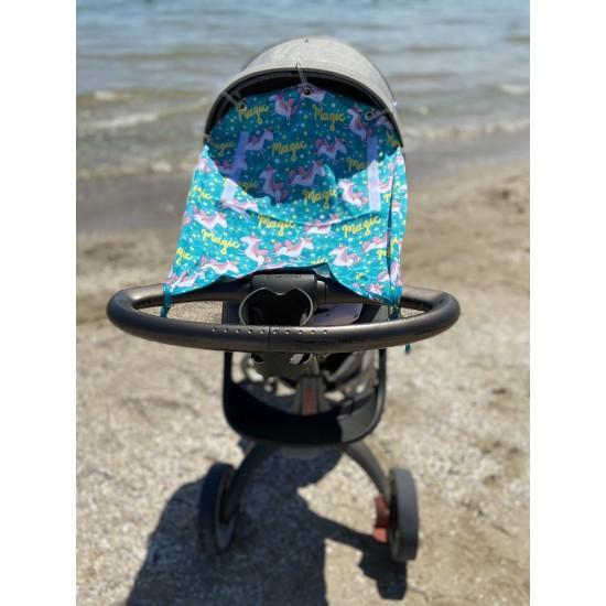 """Солнцезащитная шторка на коляску и авто-кресло """"Magic"""""""
