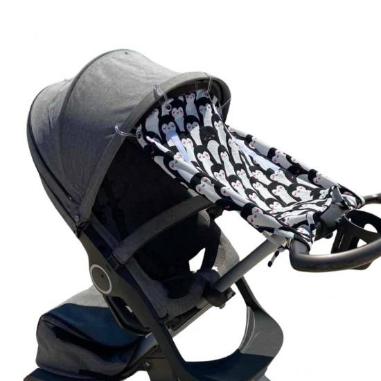 """Солнцезащитная шторка на коляску и авто-кресло  """"Penguins"""""""