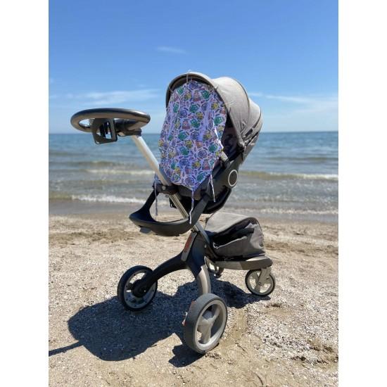"""Солнцезащитная шторка на коляску и авто-кресло """"Owls"""""""