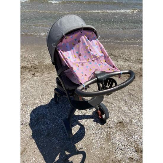 """Солнцезащитная шторка на коляску и авто-кресло """"Ice Cream"""""""