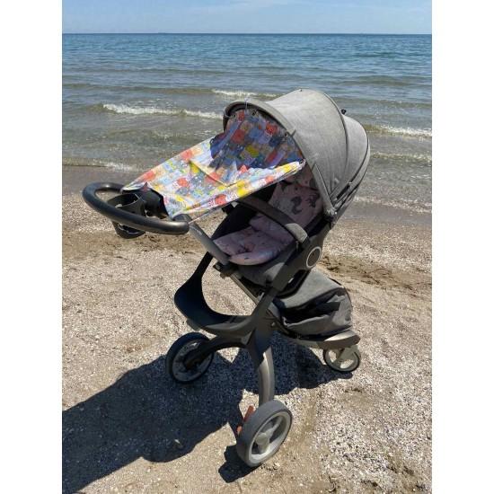 "Солнцезащитная шторка на коляску и авто-кресло ""Сats"""