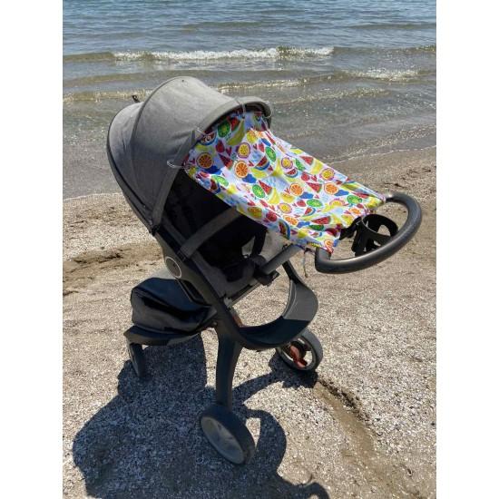 "Солнцезащитная шторка на коляску и авто-кресло ""Fruits"""