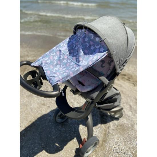 "Солнцезащитная шторка на коляску и авто-кресло ""Sweat dreams"""