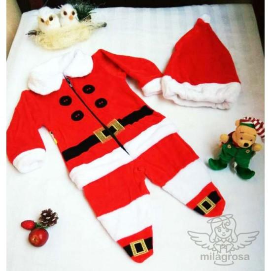 Новогодний костюм Санта (человечек + шапка) 0-2 мес