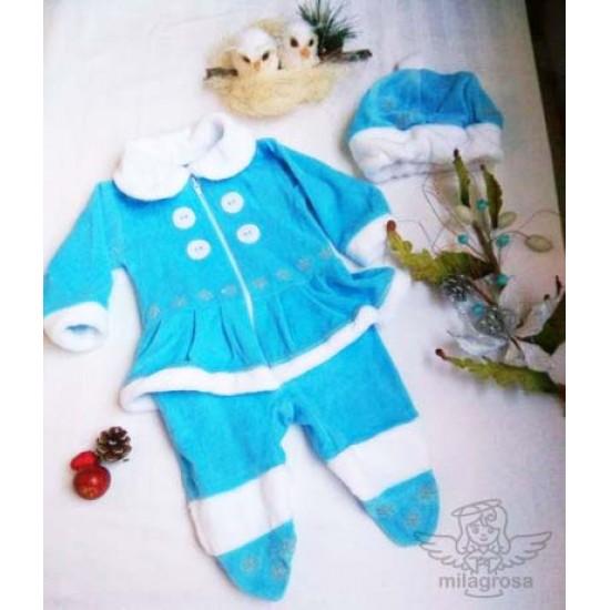 Новогодний костюм Снегурочка (человечек + шапка)