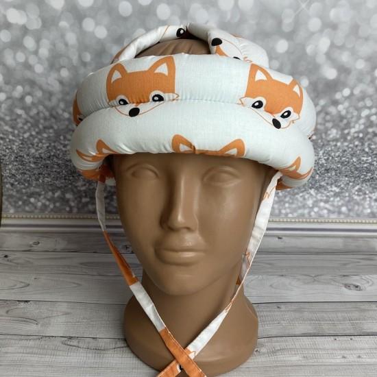 """Детский защитный противоударный мягкий шлем от ударов  """"Лисички"""""""