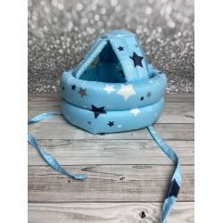 Детский защитный противоударный шлем Звездочки на голубом