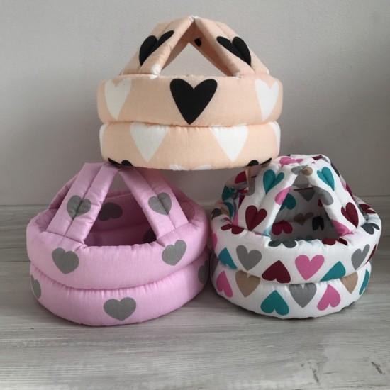 """Детский защитный противоударный шлем """"Первые шаги""""  Сердца"""
