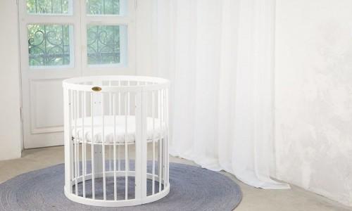Детская кроватка овальная трансформер